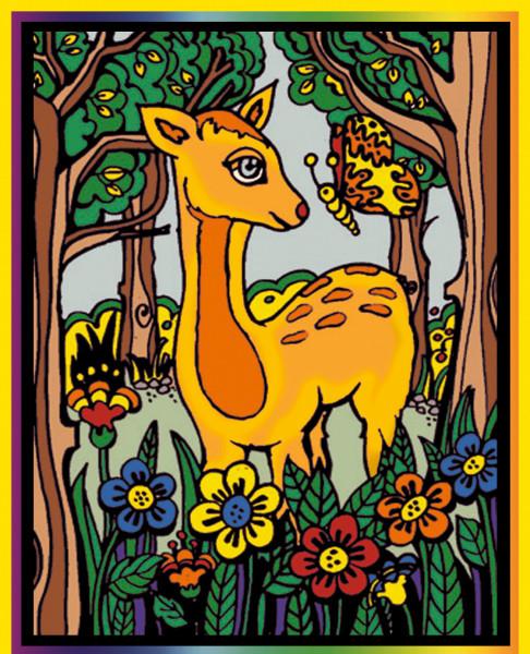 Samtbild, Color Velvet, Mittel, ca. 37x28cm, Bambi