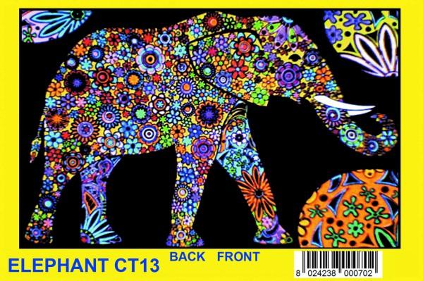 Elastic-Sammelmappe mit Samtbildern, Mandala Elefant
