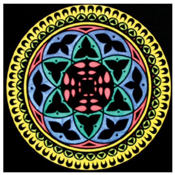Samtbild, Color Velvet, Mandala 32x32cm, Balance