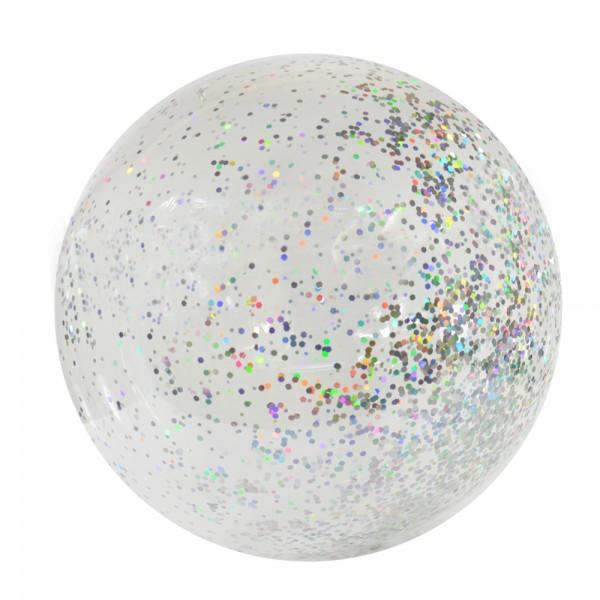 Anti Gravity Ballon, 50cm, 3 Stück, Glitter silber