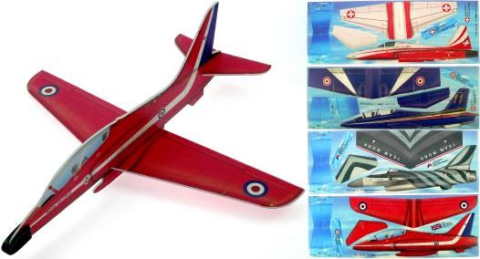 Gleitflugmodell aus Depron, Kunstflugteams 4er Set