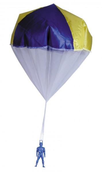 Fallschirm mit Springerfigur, bunt