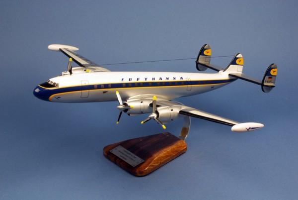 Super Constellation Lufthansa, Schreibtischmodell aus Holz