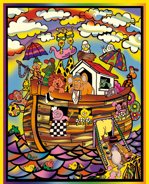 Samtbild, Color Velvet, Groß, ca. 47x35cm, Arche Noah