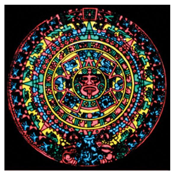 Samtbild, Color Velvet, Mandala 32x32cm, Energie
