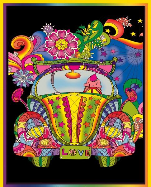 Samtbild, Color Velvet, Groß, ca. 47x35cm, Beetle