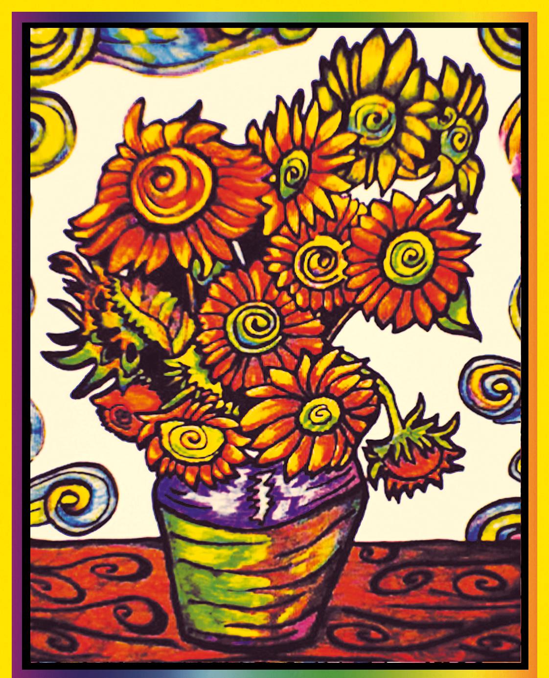 Wunderbar Sonnenblume Malvorlagen Van Gogh Bilder - Beispiel ...
