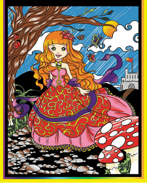 Samtbild, Color Velvet, Mini, ca. 30x21cm, Prinzessin