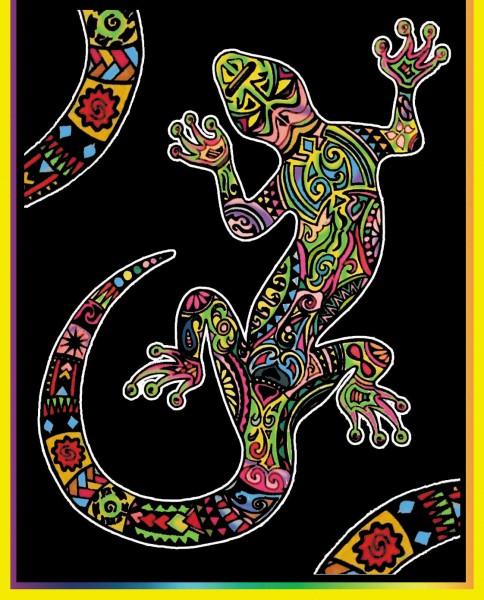 Samtbild, Color Velvet, Mini, ca. 30x21cm, Salamander