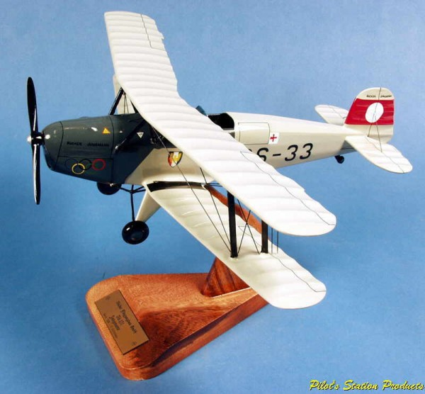 Bücker Jungmann, Schreibtischmodell aus Holz