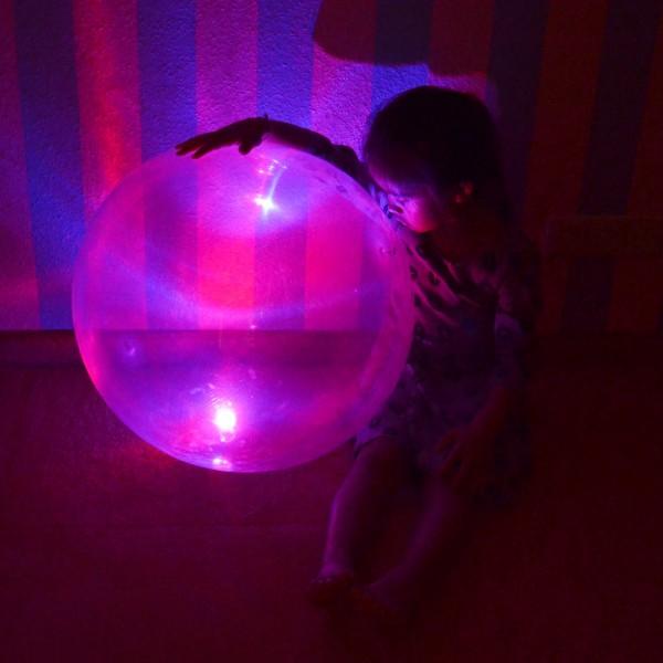 Anti Gravity Ballon, 50cm, 3 Stück farblich sortiert, mit LED