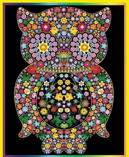 Samtbild, Color Velvet, Maxi, ca. 70x50cm,Blumeneule