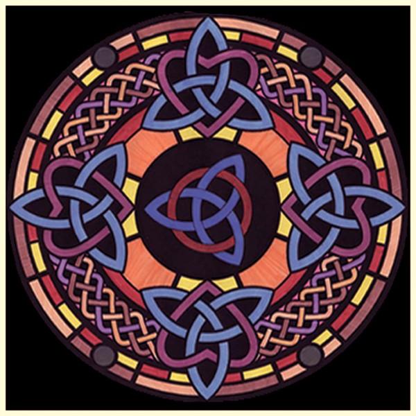 Samtbild, Color Velvet, Mandala 32x32cm, Dreiecke