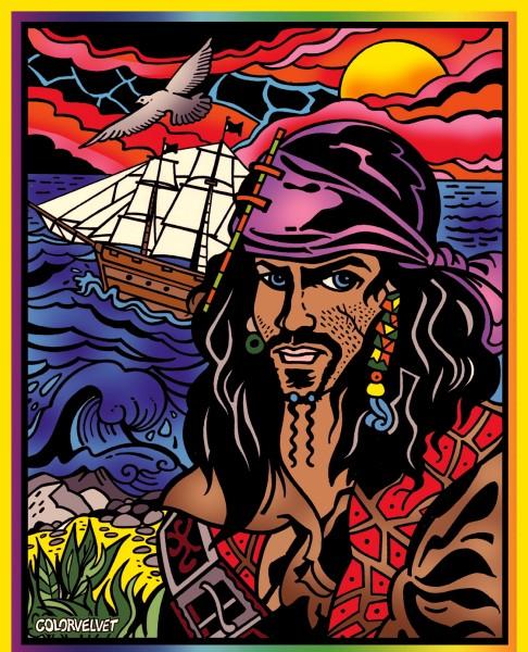 Samtbild, Color Velvet, Groß, ca. 47x35cm, Pirat