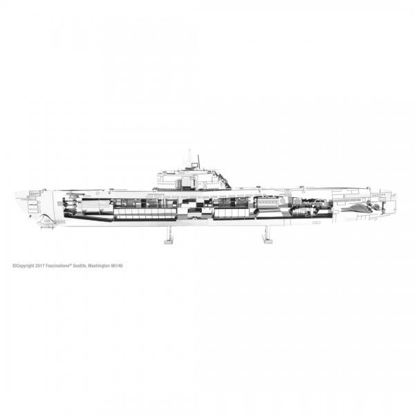 Metal Earth Metallbausatz U-Boot Typ 21