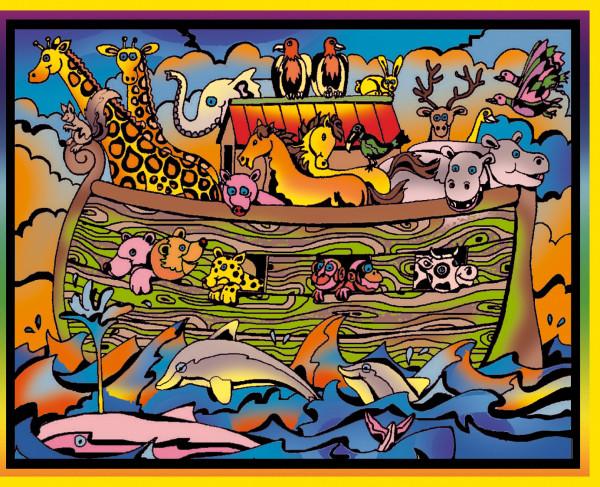 Samtbild, Color Velvet, Mittel, ca. 37x28cm, Arche Noah