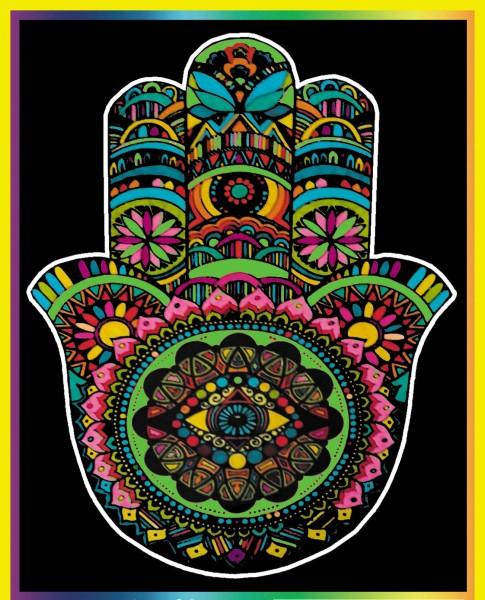 Samtbild, Color Velvet, Groß, ca. 47x35cm, Fatimas Hand