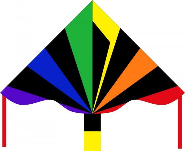 Delta Drachen Black Rainbow 120