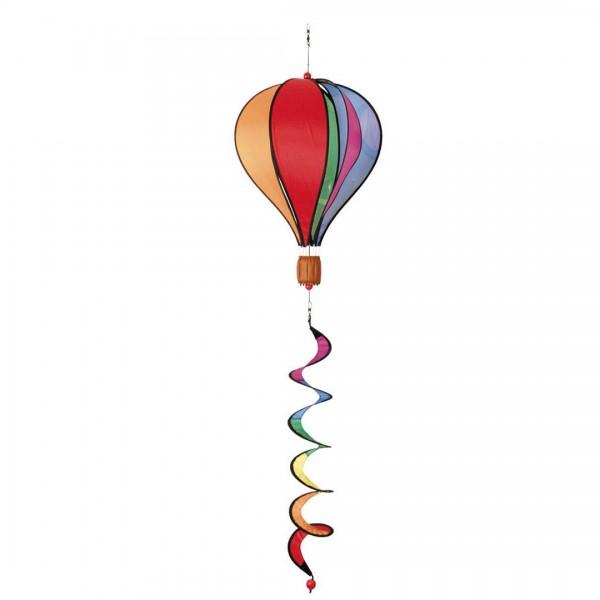 Windspiel Heißluftballon Regenbogen