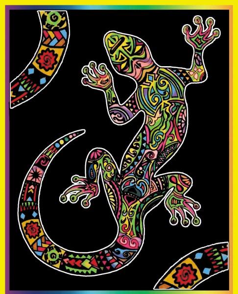 Samtbild, Color Velvet, Groß, ca. 47x35cm, Salamander
