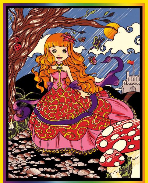 Samtbild, Color Velvet, Groß, ca. 47x35cm, Prinzessin
