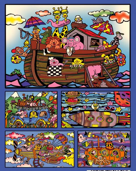 Samtbild, Color Velvet, Faltbox, ca. 24x17x13cm, Arche Noah