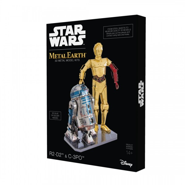 Metal Earth Metallbausatz Star Wars, Set R2D2-C3PO in der Geschenkbox