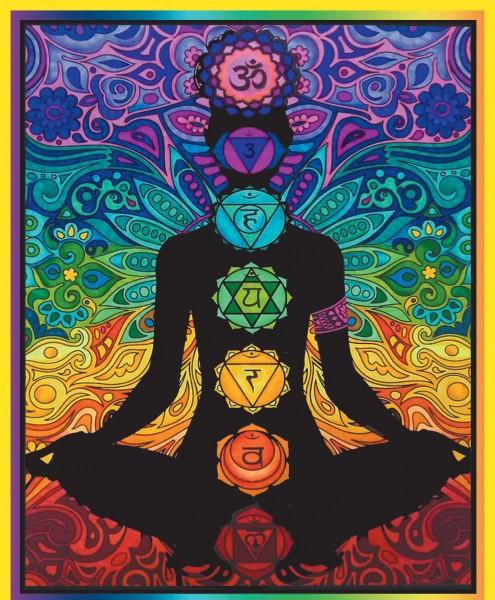 Samtbild, Color Velvet, Maxi, ca. 70x50cm, Meditation