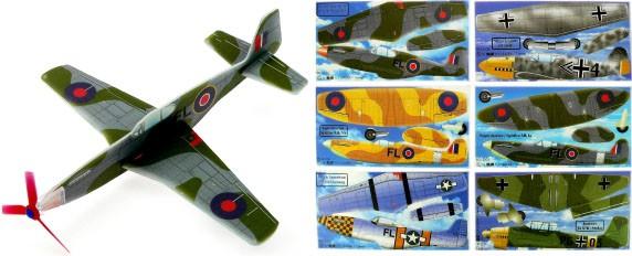 Gleitflugmodelle aus Depron, WW2, 6-fach sortiert,