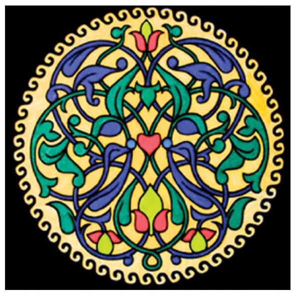 Samtbild, Color Velvet, Mandala 32x32cm, Relax