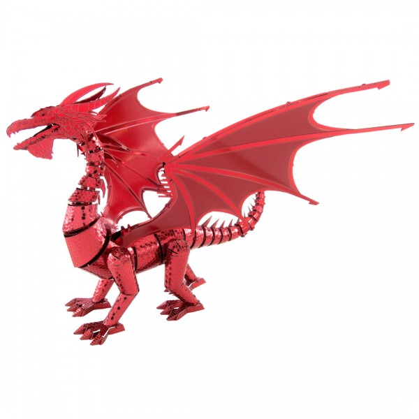 Metal Earth Metallbausatz Roter Drache