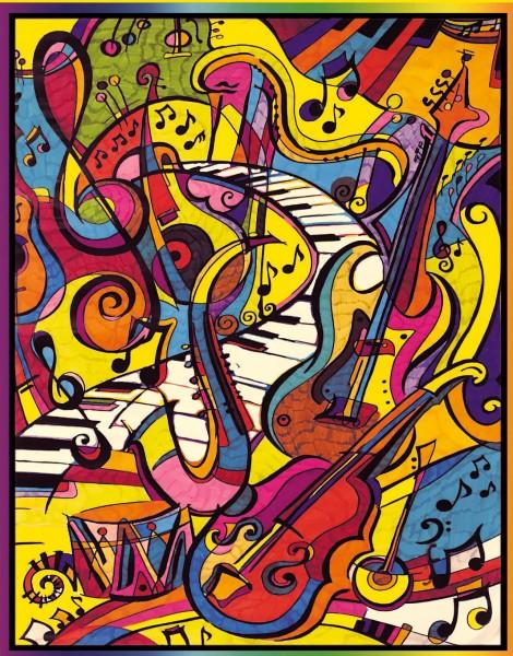 Samtbild, Color Velvet, Groß, ca. 47x35cm, Musik